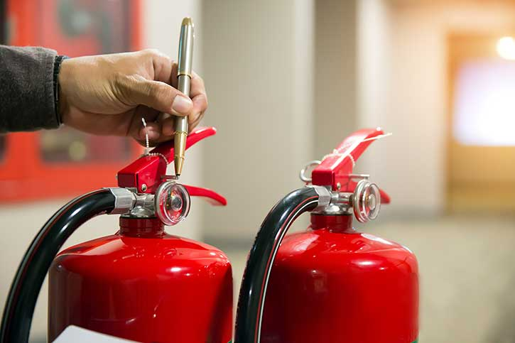 Fire extinguisher test